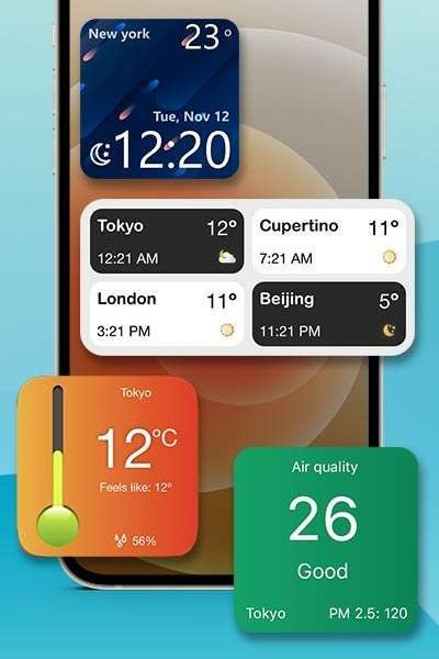 Feature Rich - Track multiple cities, air quality Thermometer & more