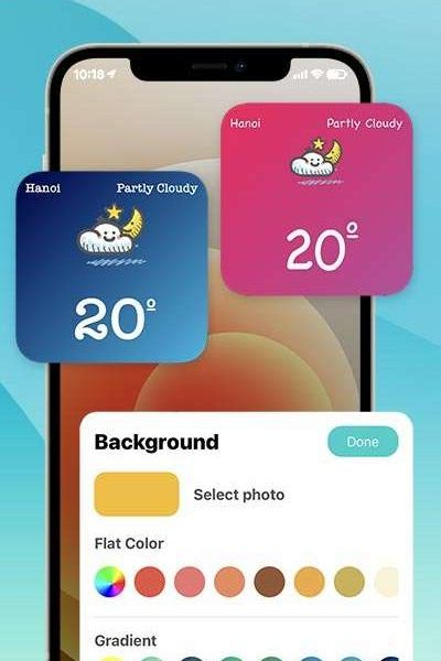 CUSTOMIZE WIDGET - With your photos, color, icons...